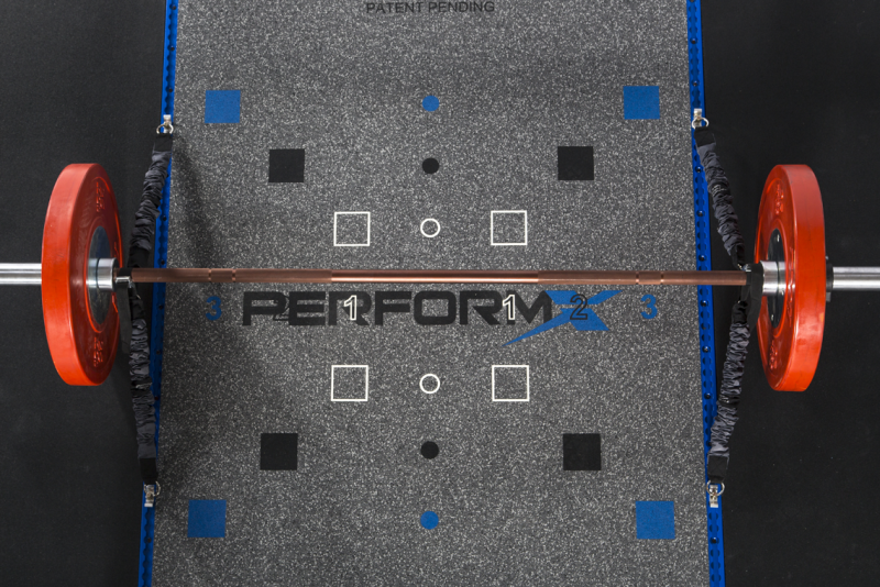 Perform-X Rubber Platform with Bar With Dead-X Cords